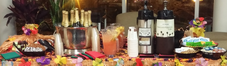 Luau Beverage Table