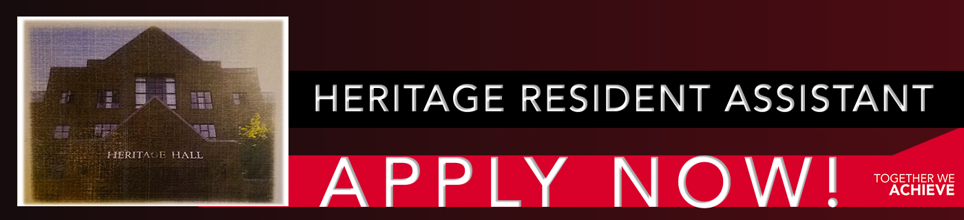 Apply to be a Heritage Hall Resident Assistant TODAY!