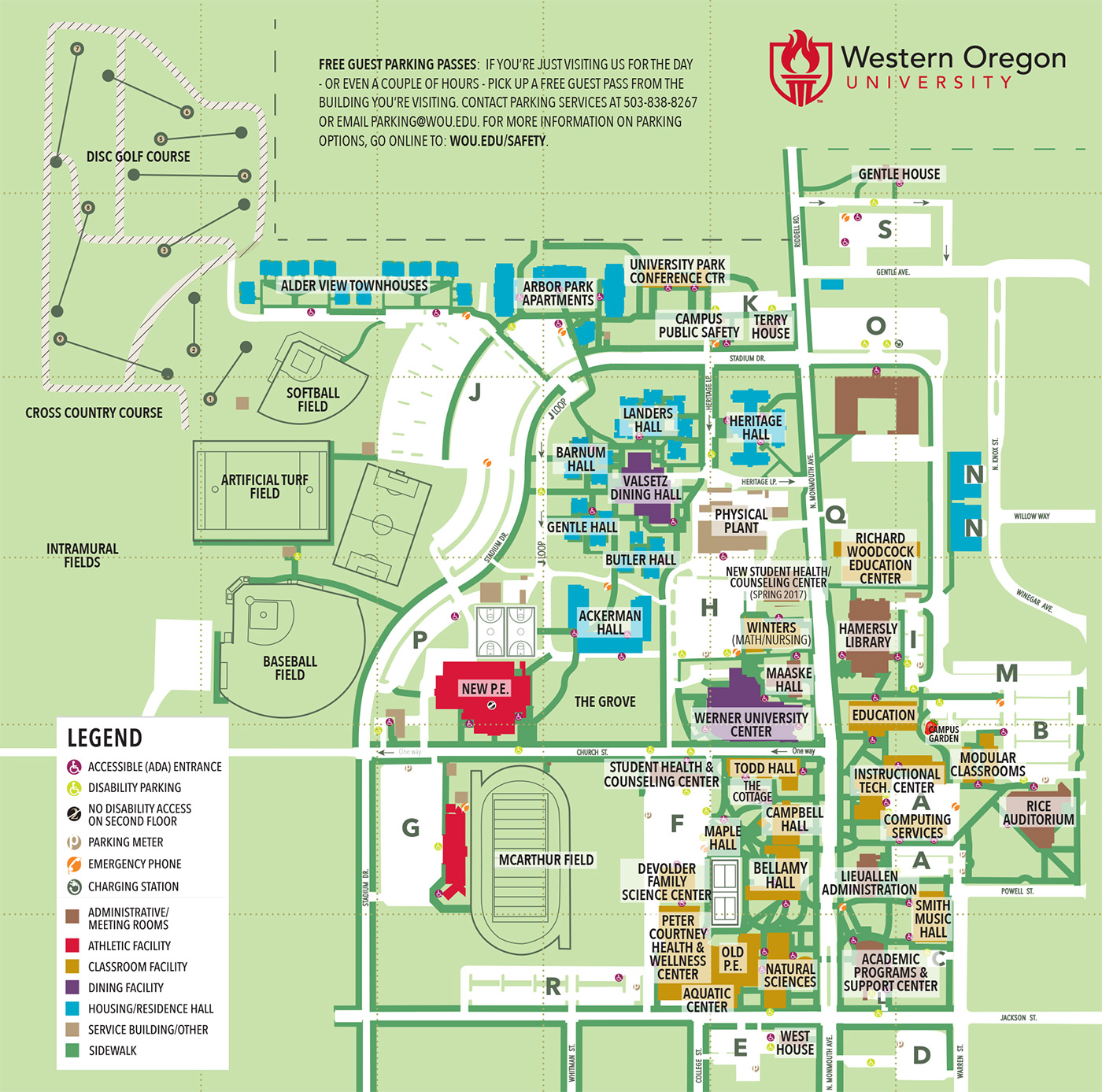 Wou Campus Map Building Information – Student Engagement