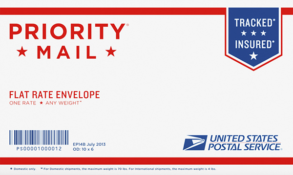 Small Flat Rate Envelope